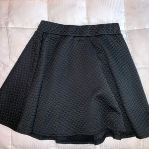 Black quilted skirt!